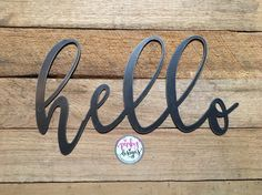 Hello Metal Word Porch Decor Hello Sign Wreath Decor Front Door Decor Entry Decor Hello Hello Sign Wreath Decor Entry Decor