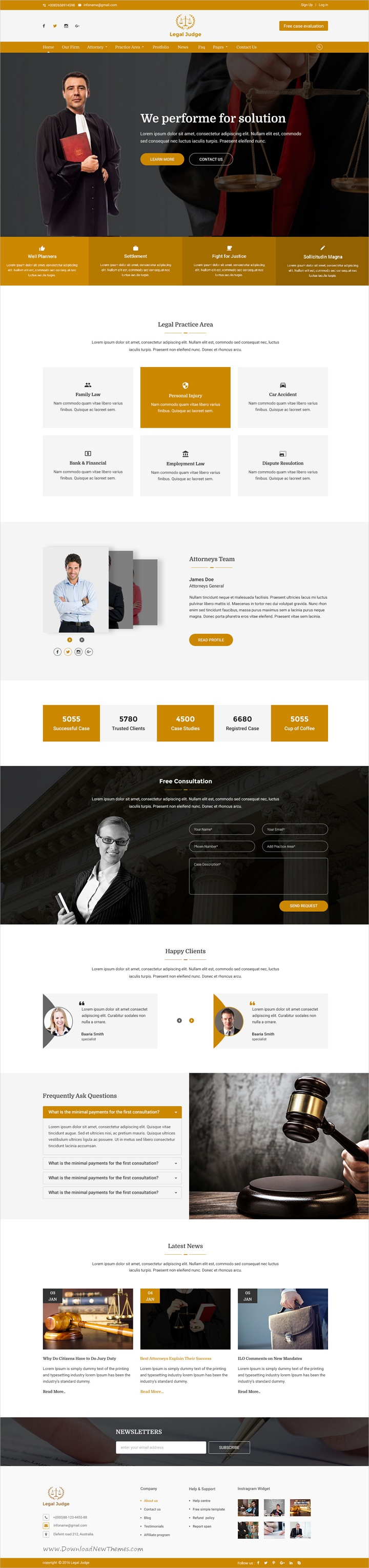 Legal judge is clean and minimalist style #Photoshop template for ...