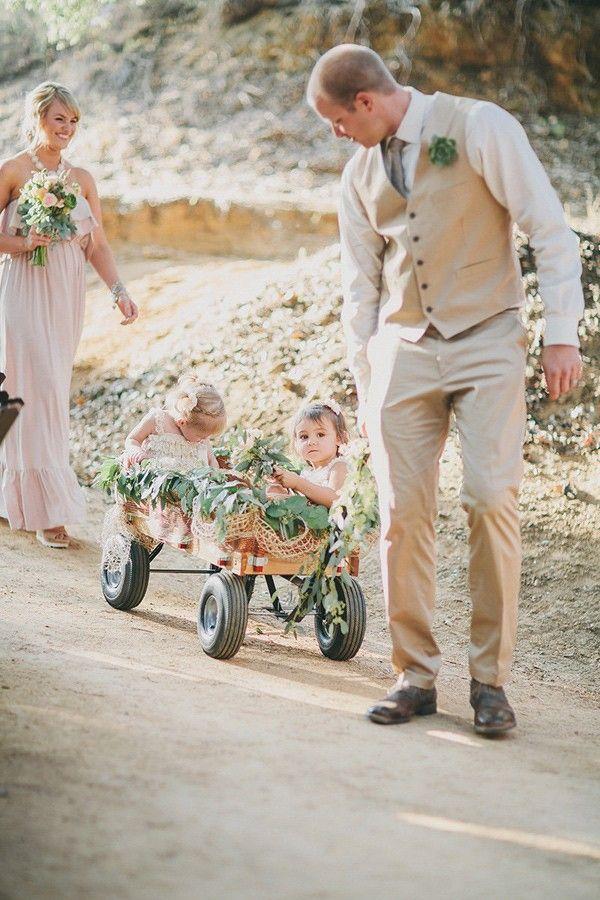 Yucaipa Wedding With Craft Beer Ruffled Wagon For Wedding Flower Girl Wagon Wedding With Kids
