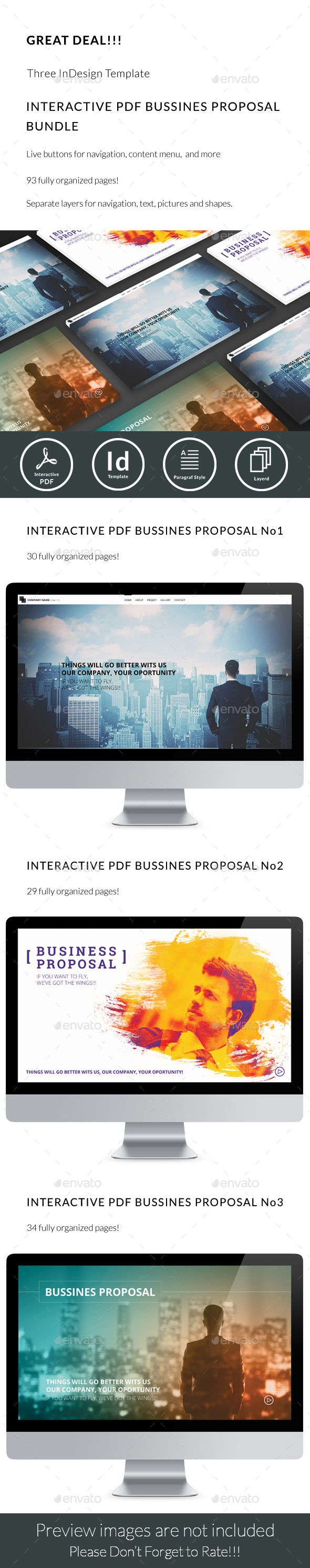 Interactive Pdf Business Proposal Bundle  Business Proposal