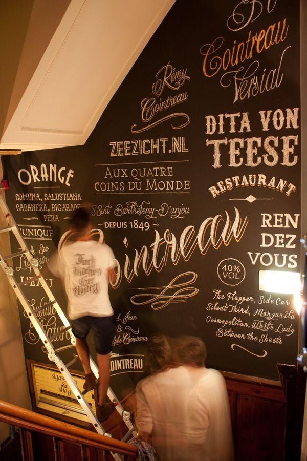 Cointreau Wallpainting At Café Zeezicht Breda by Jasper Roeken, via Behance