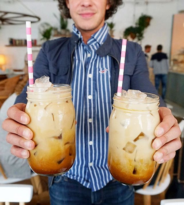 Almond Milk Iced Lattes From A New French Bakery In