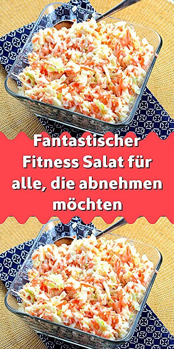 Fantastischer Fitness Salat für alle die abnehmen möchten,  #Abnehmen #alle #die #Fantastischer #Fit...