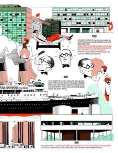 Galería - Infografía de la vida de Le Corbusier por Vincent Mahé - 1