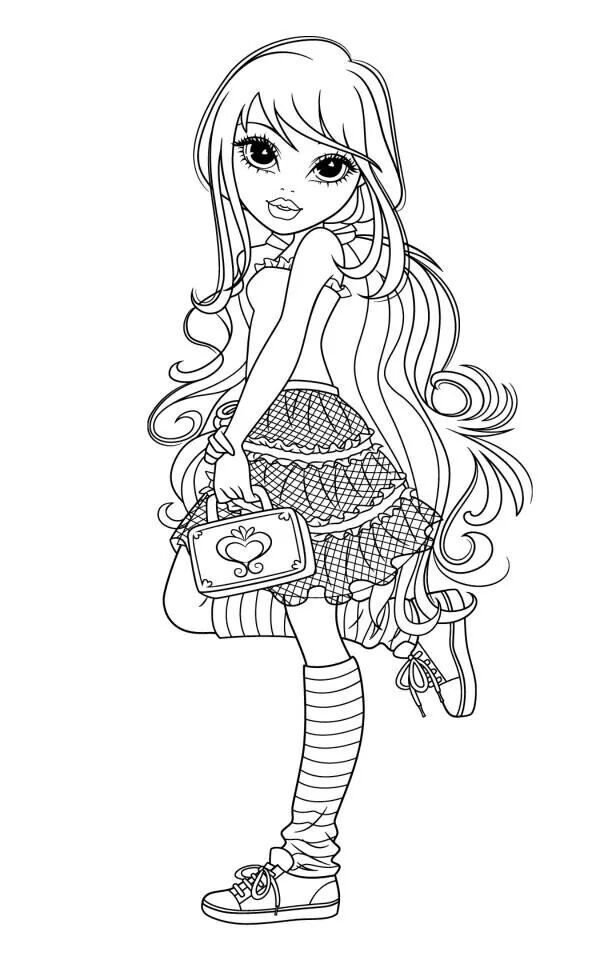 Coloriage mode coloriages dessins anim s - Dessin de fille de mode ...