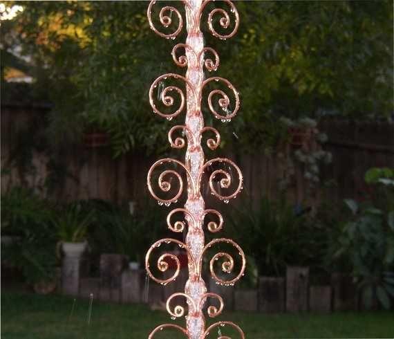 30 Amazing Downspout Ideas Splash Guards Charming Rain Chains And Creative Rain Ropes Rain Chain Copper Rain Chains Modern Rain Chains