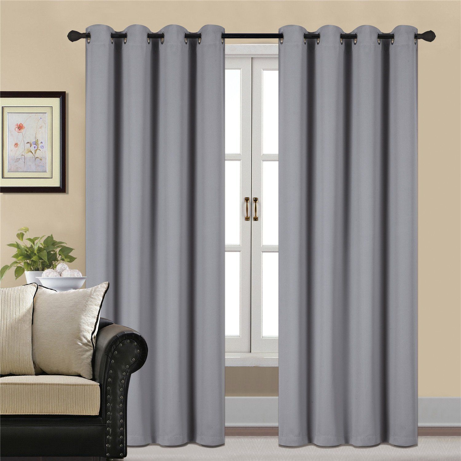 thermal curtain insulated of darkening blackout deconovo burgundy curtains for room living window luxury grommet
