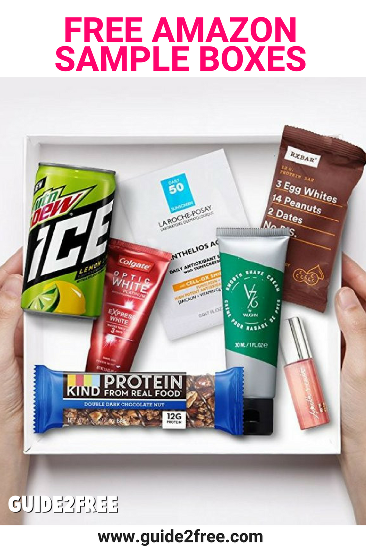 Free Sample Boxes After Rebate From Amazon Guide2free Samples Free Amazon Products Sample Box Free Sample Boxes