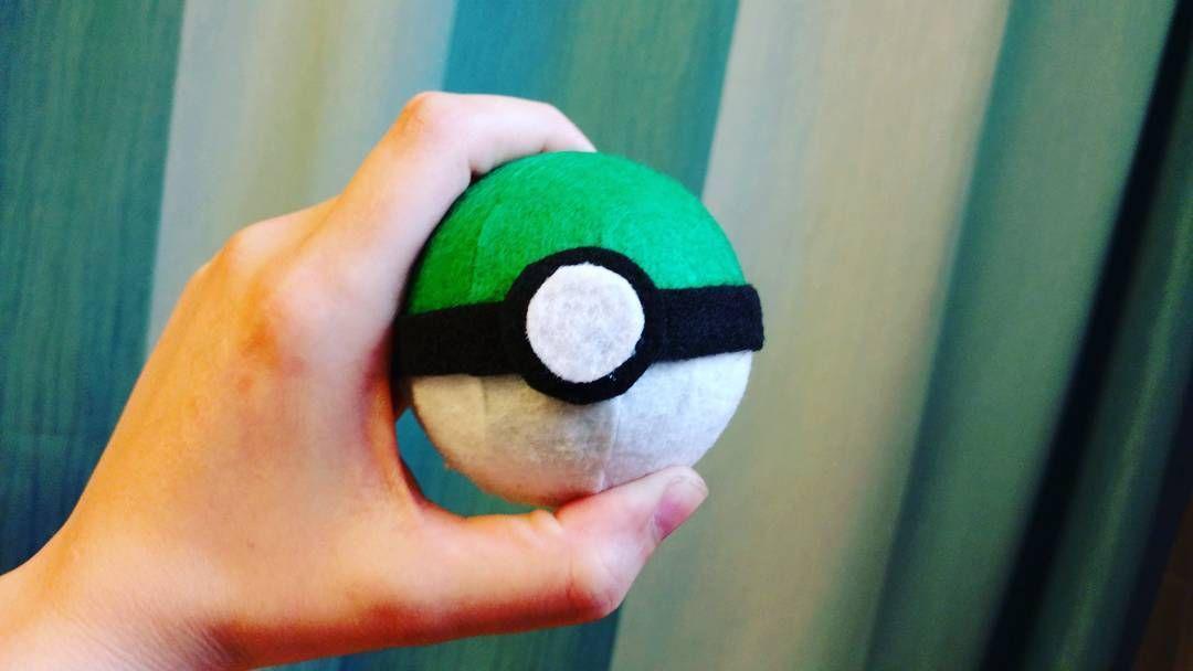 GreenBall!  #pokemonmaster #pokemon20 #pokemon #fanart #artist #art #artwork #ilovepokemon #greenball #pokeball #cosplayprop #etsy
