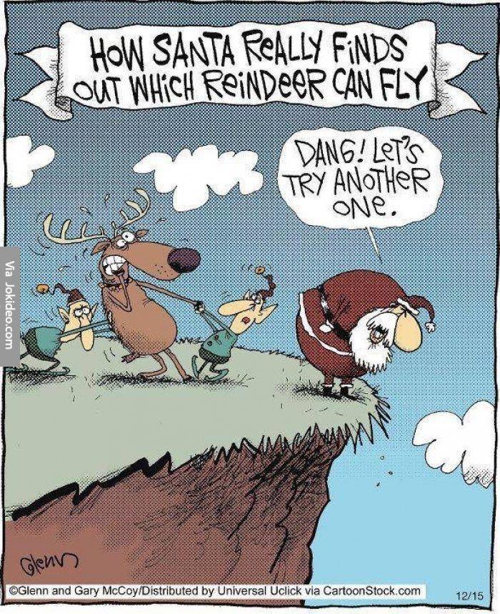 Nice Funny Santa Reindeer Cartoon Amazing Design