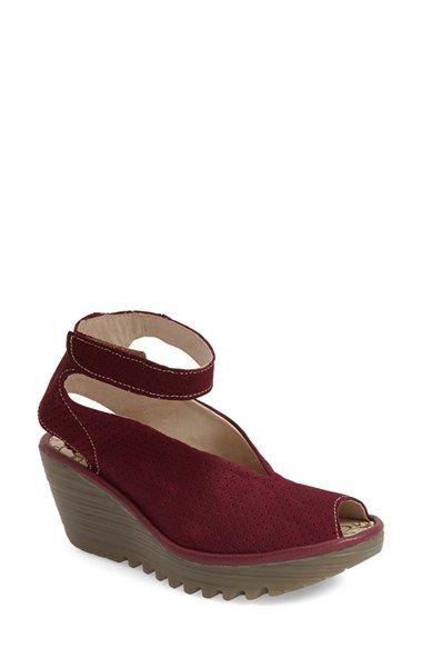 Available Leather Sandal nordstrom 'yala' Perforated Fly London At gqwtnRaaXP