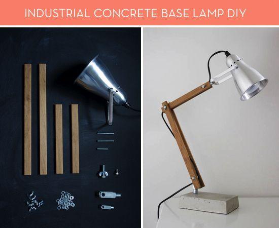 Ikea Hack Diy Concrete Base Lamp