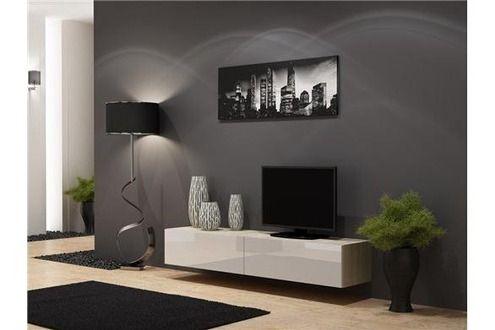 Meuble Tv Chloe Decoration Meuble Tv Design Suspendu Vito 180cm Bois Et Blanc Decoration Meuble Tv Meuble Meuble Tv Design
