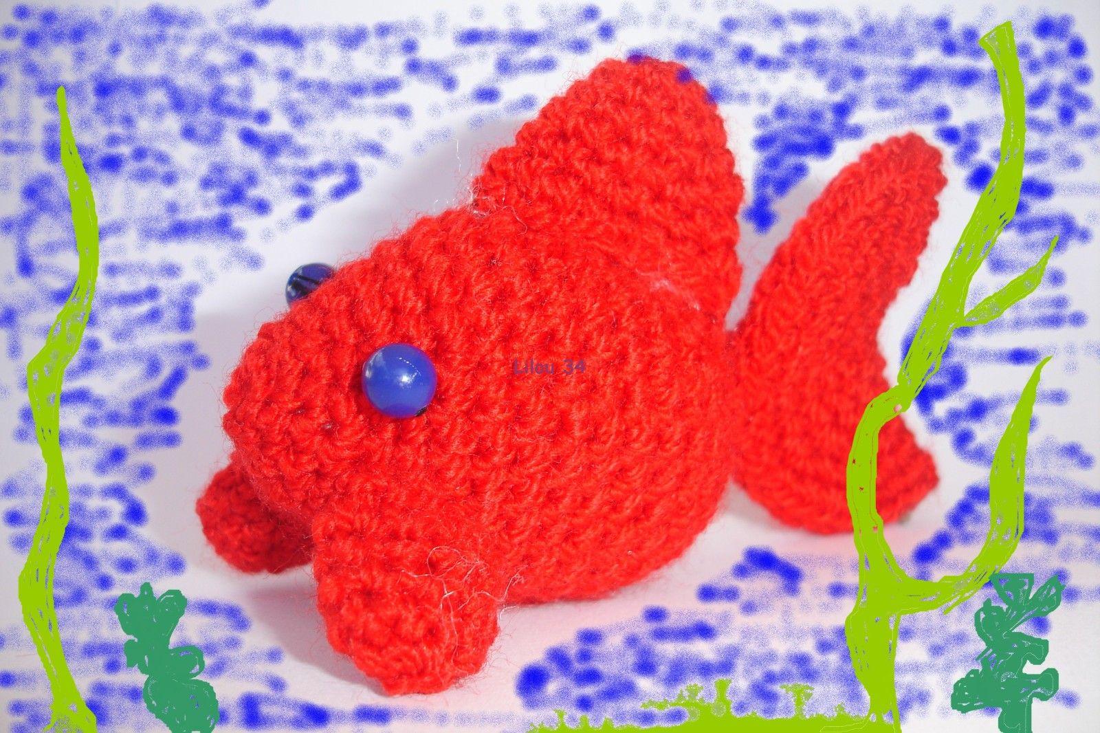 poisson crochet diy modele tuto gratuit diy tuto gratuit amigurumi crochet pinterest petit. Black Bedroom Furniture Sets. Home Design Ideas