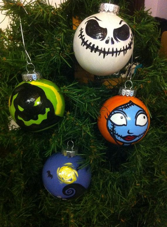 Hand-Painted Shatterproof Nightmare Before by TheArtistHaley - the nightmare before christmas decorations