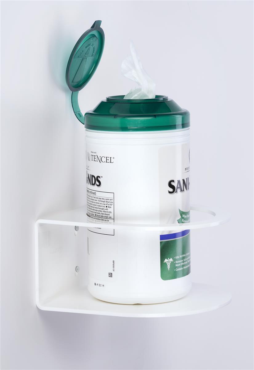 Wall Mount Wipe Holder White Acrylic Sanitizer Accessory In 2020 Wipe Holder Wipes Holder Wipes Dispenser