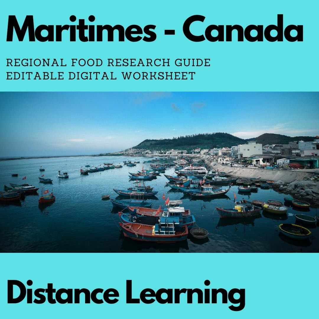 Research Regional Cuisine Digital Worksheet Editable