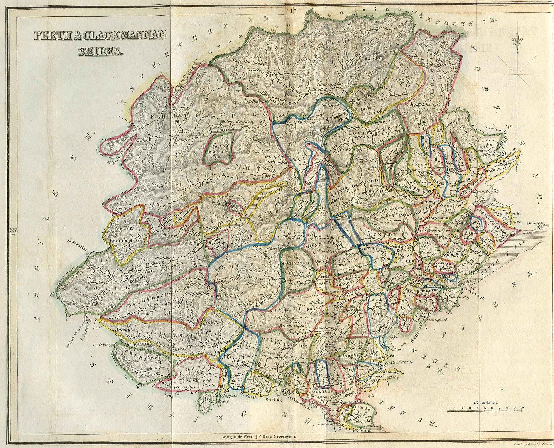 Perth and clackmannan c1845 maps pinterest perth perth nvjuhfo Images