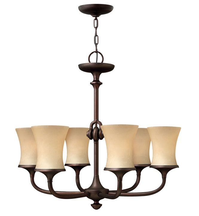 Hinkley Lighting - 4176VZ - Thistledown Victorian Bronze 6 Light Chandelier
