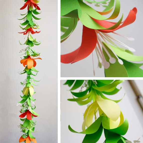 Flower Garland DIY Templates for Silhouette Cricut Explore or ...