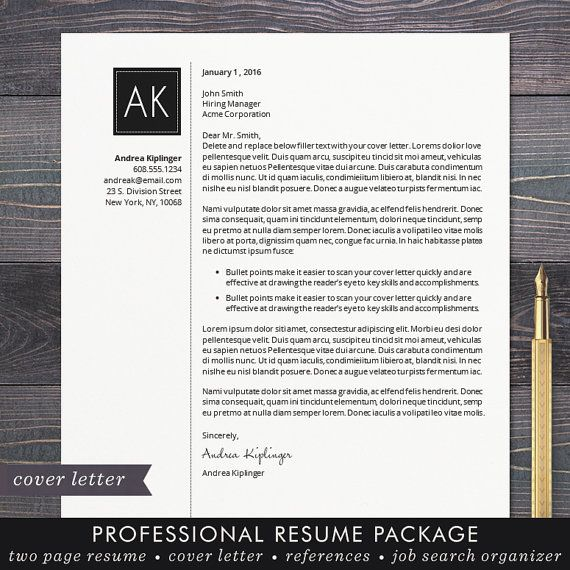 Resume Template - CV Template, Word for Mac or PC, Professional - resume templates word mac