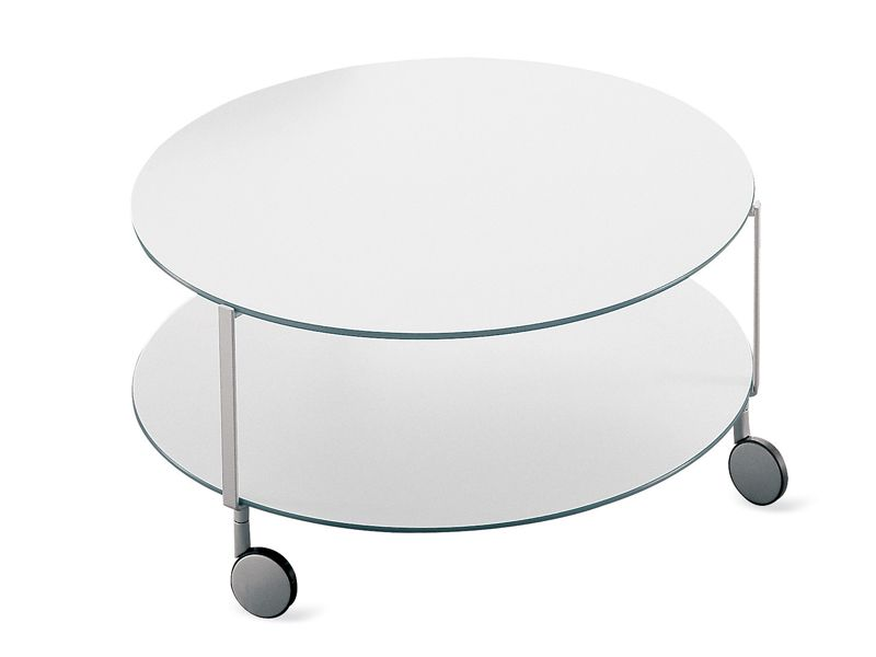 table basse ronde a roulettes giro by