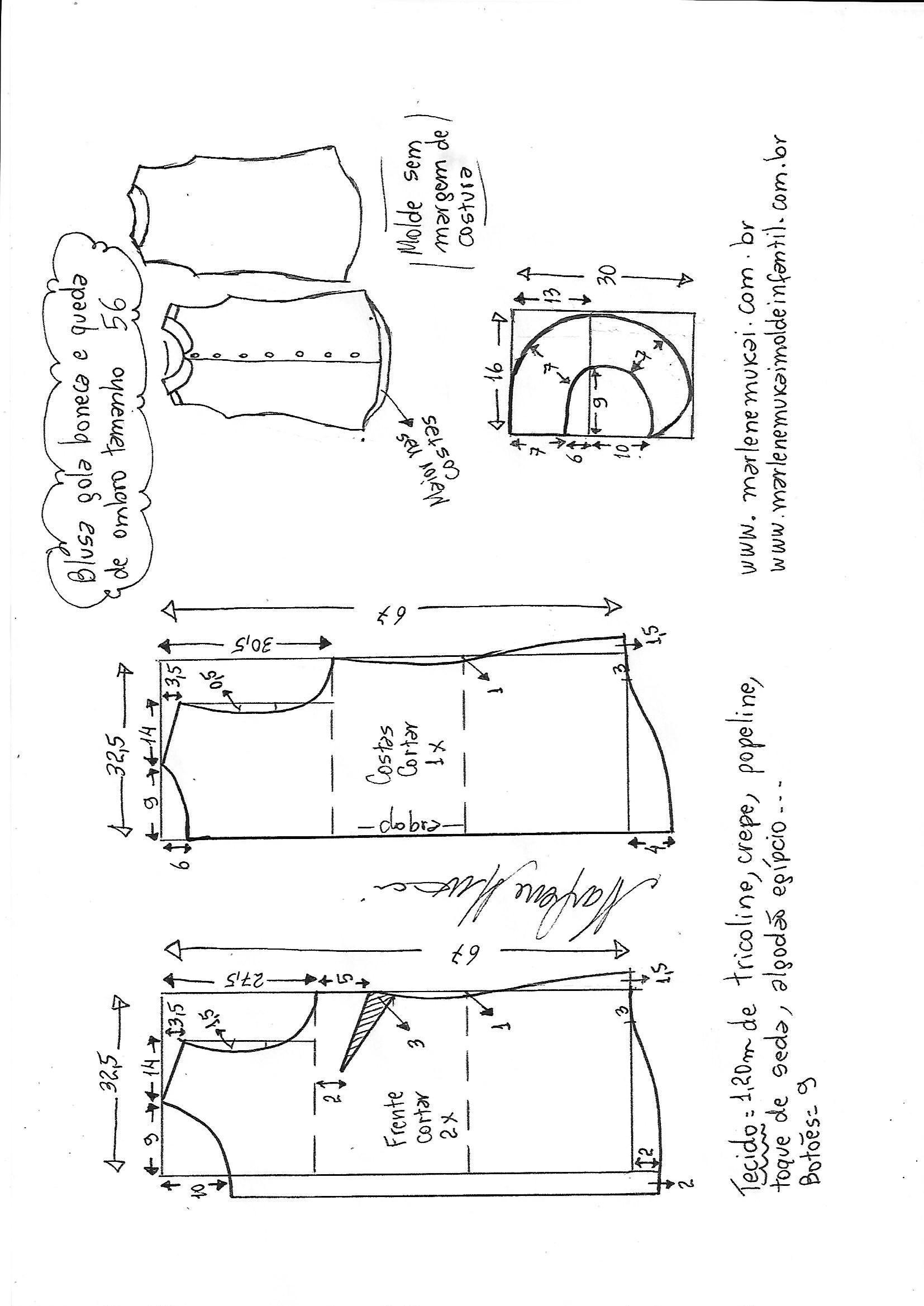 Pin de Virge en tallas grandes   Pinterest   Costura, Patrones de ...