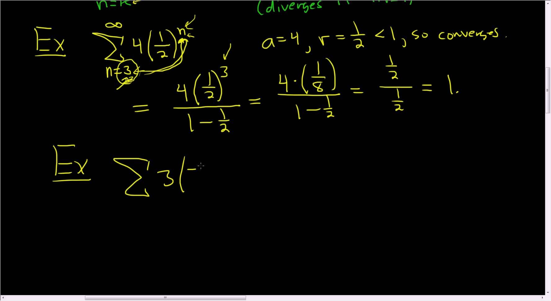 The Super Formula For Infinite Geometric Series