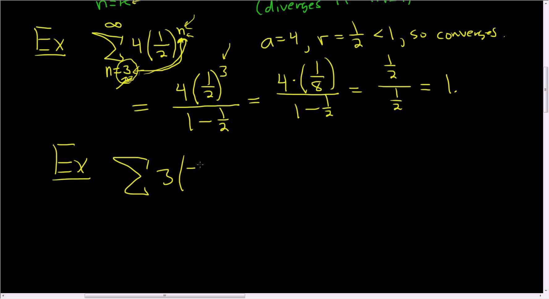 The Super Formula For Infinite Geometric Series