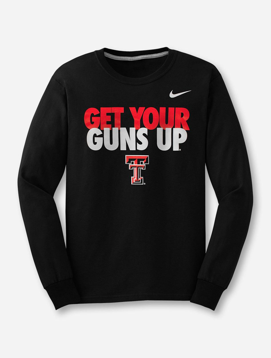 Nike Texas Tech Get Your Guns Up Long Sleeve Texas Tech Clothes Texas Tech Texas Tech Red Raiders [ 1250 x 948 Pixel ]