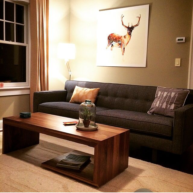 Solid Walnut Coffee Table From Terp Living Room And Board Andre Sofa Deer In Gym Socks Art Https Www Facebook Com Terpliving Sofa Room Walnut Coffee Table