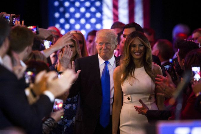 May 4, 2016 DAMON WINTER/THE NEW YORK TIMES Donald J. Trump, with his wife, Melania, on Tuesday, is positioned to clinch enough delegates to avoid a contested convention.