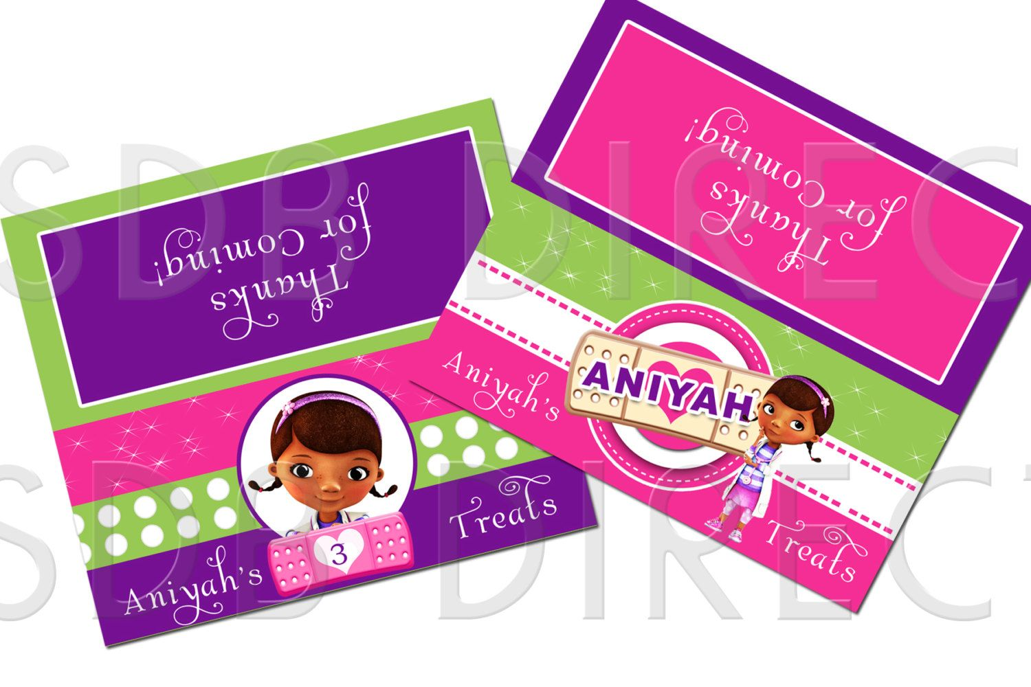 Cute Doc Mcstuffins Treat Bag Toppers Kaitlyn S Pary Ideas