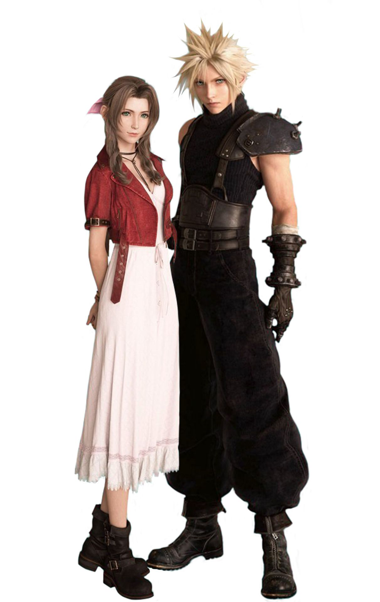 The Lq Renders Of Cloud And Aerith From The Most Recent