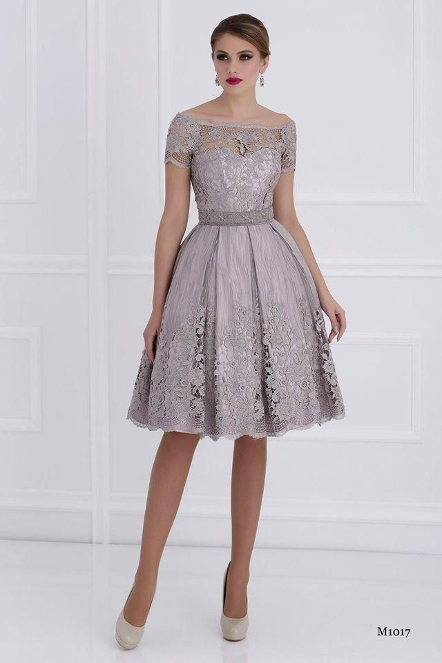 4abad93785 2015 Lace Knee Length Mother Of Bride Dresses Bateau Short Sleeves A ...
