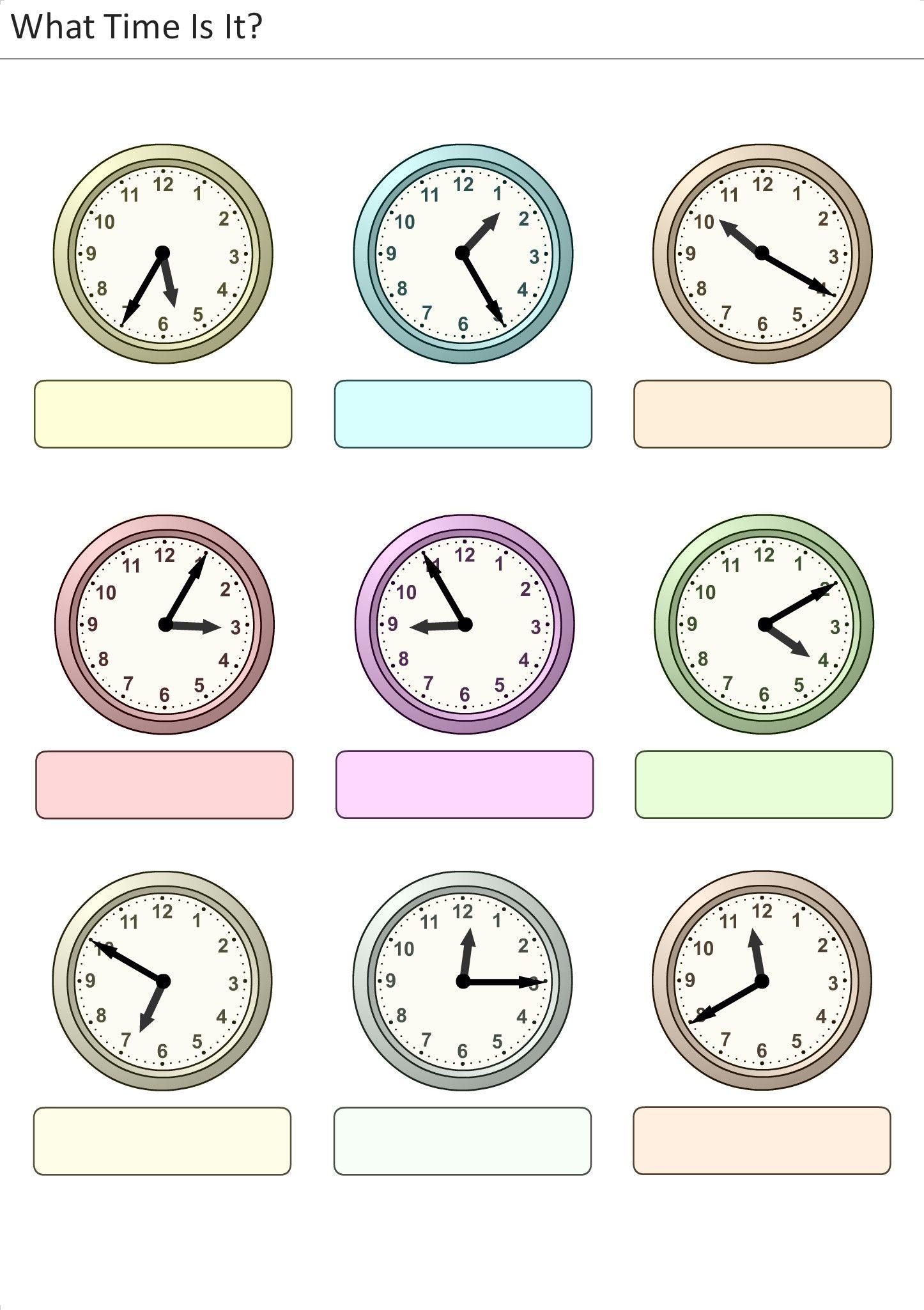 Actividades Para Ninos Preescolar Primaria E Inicial Plantillas Con Relojesogicos Para
