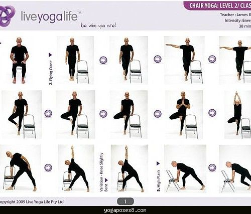 Easy Yoga Poses For Seniors With A Chair Level U Class