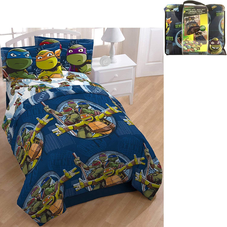Ninja Turtle Bedroom Set Luxury D I D 5 Piece Kids Green Blue Teenage Mutant Ninj Tmnt Bedding Ninja Turtles Bedroom Decor Teenage Mutant Ninja Turtles Bedroom