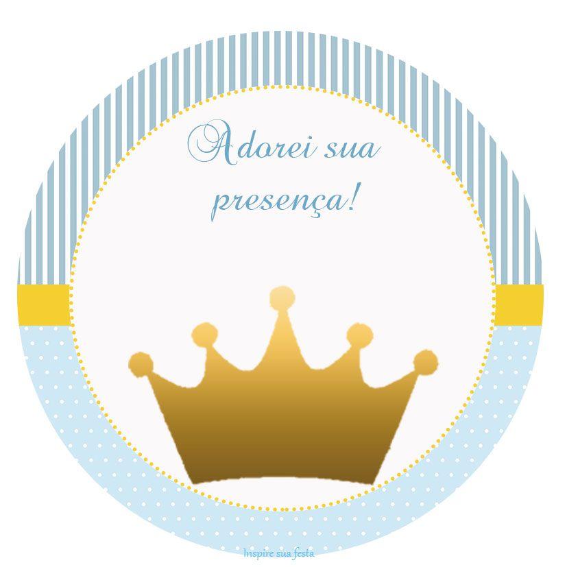 Príncipe Coroa Dourada - Kit festa infantil grátis para ...