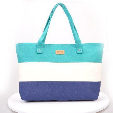 e2b70feaa4 Women Beach Canvas Bag Fashion Color Stripes Printing Handbags Ladies Large Shoulder  Bag Totes Casual Bolsa