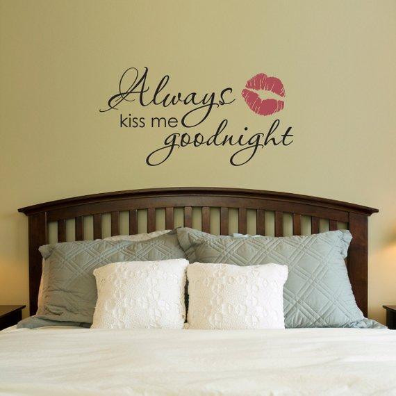 always kiss me goodnight wall decal - goodnight wall sticker