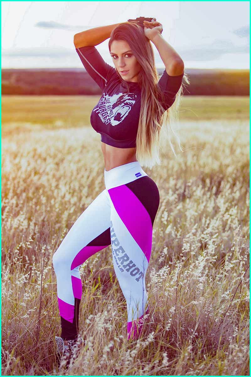 d2a3d2c952f42 Super Hot Girls Who Lift Legging is getting very haute. Mid-rise legging  with wide striping that wraps the legs. Silver SUPERHOT Girls Who Lift  Applique ...