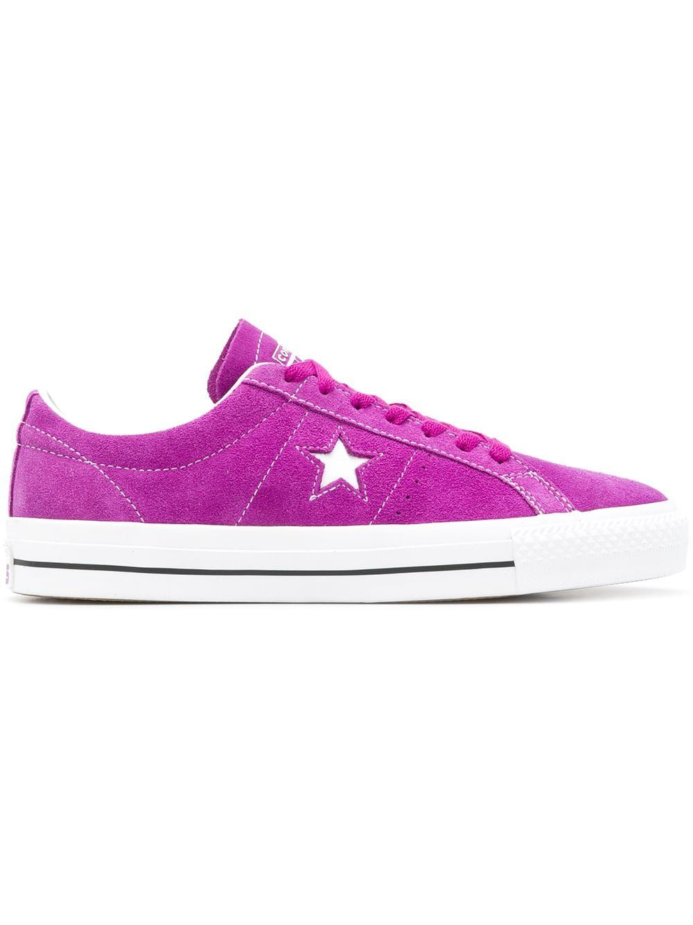 29d1e3444ea0eb CONVERSE CONVERSE ONE STAR PRO OX TRAINERS - PURPLE.  converse  shoes