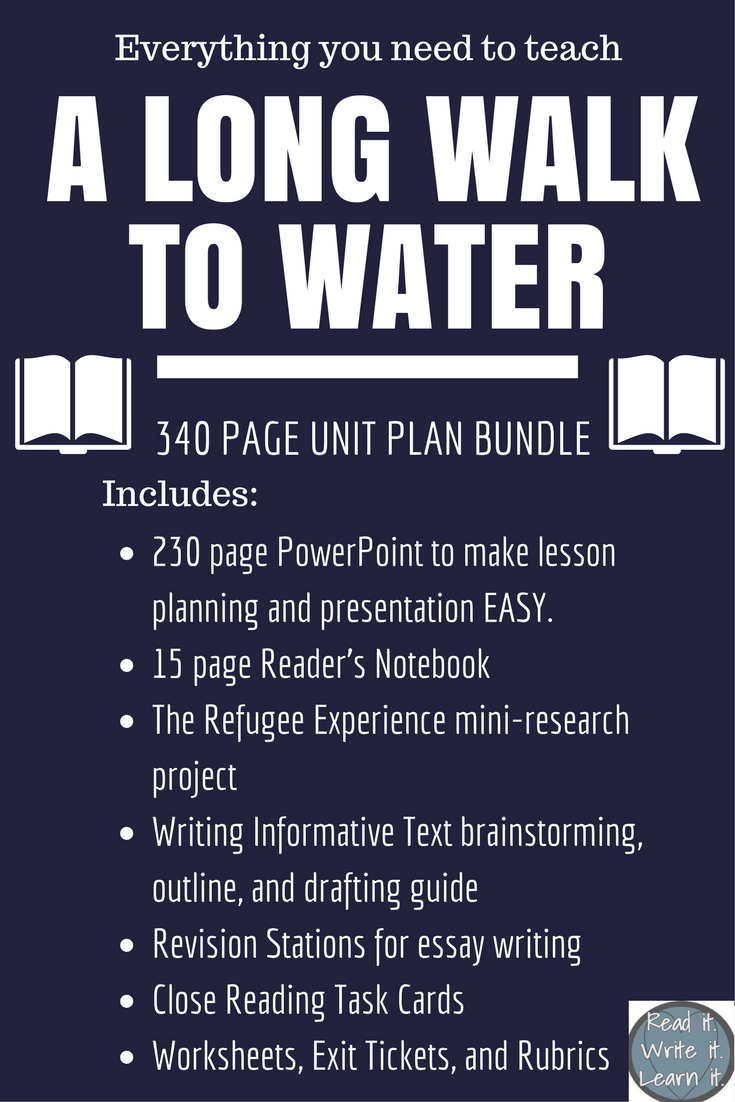 A Long Walk to Water Unit Bundle Engage NY aligned Grades 5 8