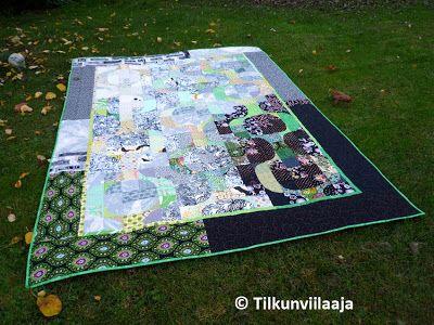 Enigma quilt by Tilkunviilaaja - Arvoitus-tilkkupeitto vuodelta 2013