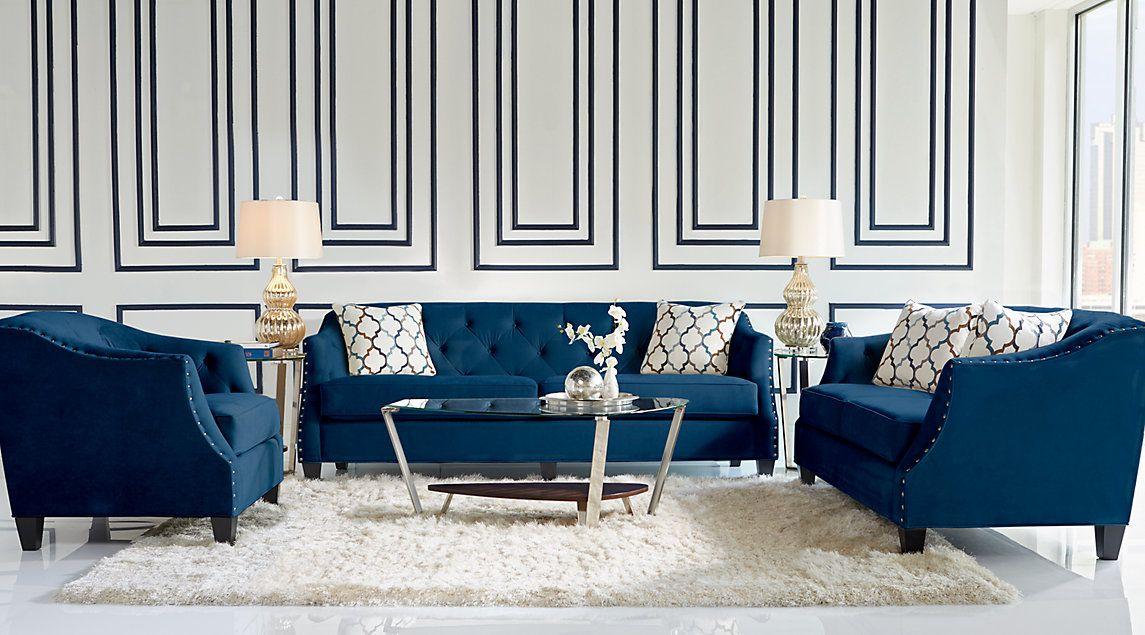 Sofia Vergara Living Room Set With Navy