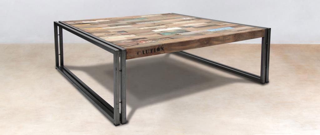 100x100 carrée bois CARAVELLETables basse Table recyclé wTiZuOPkXl