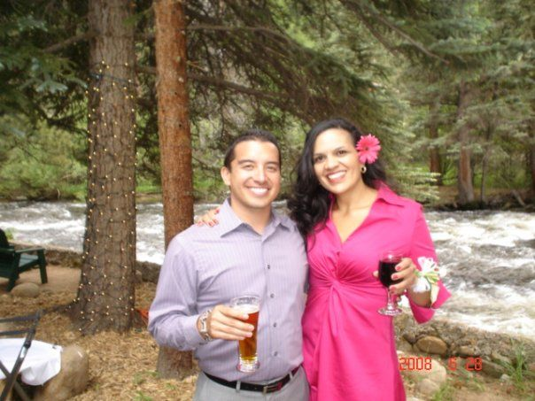 My BFF Scott, Estes Park CO, Flowing Rivers, Magenta Dresses, Vino tinto, flowers in the hair, and of course OUTDOOR parties!