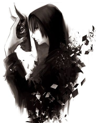I were the mask as my symbol of fear of hate. Everyone hates me. But why. (RP!!!)