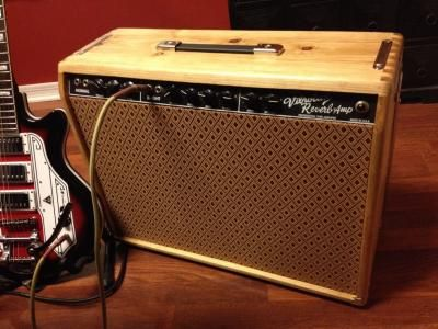 custom fender vibroverb replacement fender amplifier cabinets built by will dyke custom. Black Bedroom Furniture Sets. Home Design Ideas
